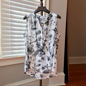 Ladies Blouse, floral print, size L